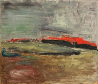 Mindaugas Gelunas; Some Landscape, 2007, Original Painting Oil, 14.8 x 12.6 inches. Artwork description: 241  painting, oil, cardboard, abstract, landscape ...