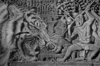 Minh Hang; Hunter, 2009, Original Drawing Pencil, 8 x 10 inches. Artwork description: 241    This is a pencil drawing, it also available for limited edtion print signed by artist, for sale at $100 each. size 16X20 inches.      ...