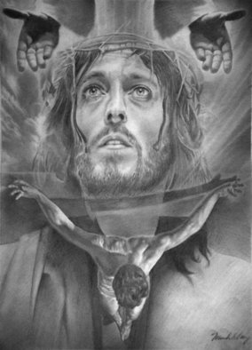 Minh Hang; Only God Can Judge, 2009, Original Drawing Pencil, 8 x 10 inches. Artwork description: 241   This is a pencil drawing, it also available for limited edtion print signed by artist, for sale at $100 each. size 16X20 inches.     ...