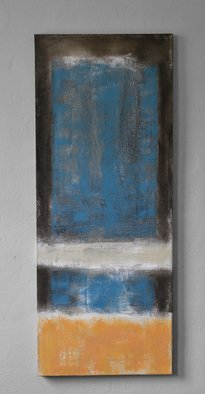 Dimitar Minkov; Blue I, 2018, Original Mixed Media, 40 x 100 cm. Artwork description: 241 Mixed media on canvas. ...