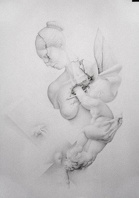 Mirko Sevic; Stillness, Child Was Born, 2004, Original Drawing Pencil, 700 x 1000 mm. Artwork description: 241  stillness ...