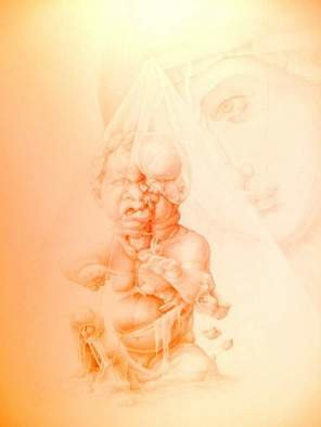 Mirko Sevic; Stillness, Madona And Child, 1996, Original Drawing Pencil, 500 x 700 mm. Artwork description: 241  stillness ...