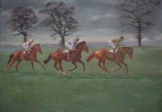 Abigail Rhodes; Early Morning Race, 2009, Original Painting Oil, 30 x 24 inches.