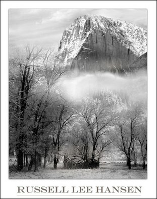 Russell Hansen; Longs Peak In Winter, 2006, Original Photography Black and White, 16 x 20 inches. Artwork description: 241  Longs Peak, Rocky Mountain National ParkColorado  Poster can have the name of the artist on the bottom . . . or not ...
