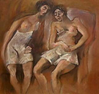 Hari Mitrushi; Two Friends, 2000, Original Pastel, 19 x 21 cm. Artwork description: 241  The inspiration for this painting was from a French painter who I admire. ...