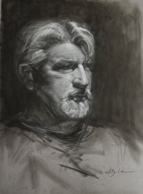 Mitzi Lai; AL, 2011, Original Drawing Charcoal, 18 x 24 inches. Artwork description: 241  Charcoal drawing ...