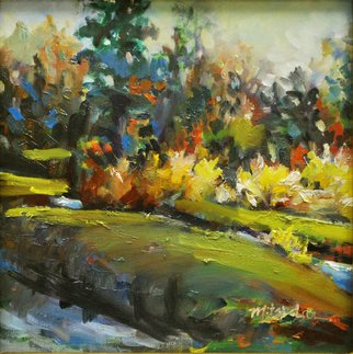 Mitzi Lai; Golden Reed, 2011, Original Painting Oil, 12 x 12 inches. Artwork description: 241    Oil Painting, plein air, landscape, Mitzi Lai, scene, fall, golden reed, river, grass, park ...