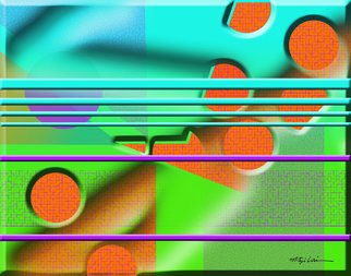 Mitzi Lai; Symphony 2, 2014, Original Digital Art, 30 x 24 inches. Artwork description: 241  Abstract, Geometric, design, colorful, bright, Mitzi Lai,           ...