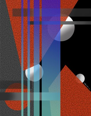 Mitzi Lai; Symphony 3, 2014, Original Digital Art, 30 x 24 inches. Artwork description: 241    Abstract, Geometric, design, colorful, bright, Mitzi Lai,             ...