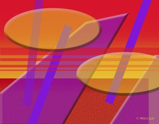 Mitzi Lai; Symphony 4, 2014, Original Digital Art, 30 x 24 inches. Artwork description: 241     Abstract, Geometric, design, colorful, bright, Mitzi Lai,              ...