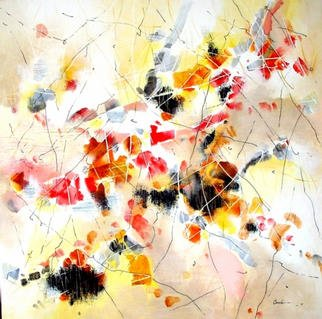 Maria-Jose Camoes; Fire Dance, 2000, Original Painting Acrylic, 39 x 39 inches.