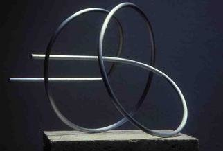 Mrs. Mathew Sumich; Untitled Aluminum, 1966, Original Sculpture Aluminum, 18 x 12 inches. Artwork description: 241 circular, bent continuous wire- brushed aluminum...