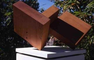 Mrs. Mathew Sumich; Wood Rectangles 1, 1968, Original Sculpture Wood, 16 x 13 inches. Artwork description: 241 oiled, natural alder wood, 3 rectangles sitting diagonally...