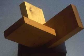 Mrs. Mathew Sumich; Wood Rectangles 2, 1968, Original Sculpture Wood, 19 x 11 inches. Artwork description: 241 oiled, natural alder, 3 rectangles on diagonal...