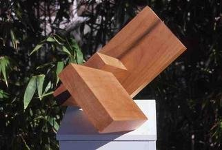 Mrs. Mathew Sumich; Wood Square and Rectangles, 1969, Original Sculpture Wood, 24 x 13 inches. Artwork description: 241 oiled, natural alder wood, 2 rectangles and one square on diagonal...