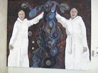 Maryjean Galivan; 2 Women 1 Organism, 2005, Original Painting Acrylic, 45 x 38 inches. Artwork description: 241 This began with an old photoraph of my mother that I merged with a photograph I took in the carwash.  I then used this as inspiration for the painting....