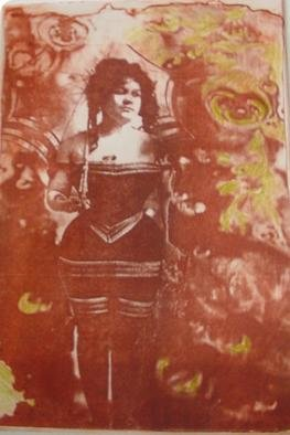 Maryjean Galivan; Raingirl, 2006, Original Printmaking Intaglio, 8 x 10 inches. Artwork description: 241 photograph combined with appropriated image, exposed to an intaglio plate. ...