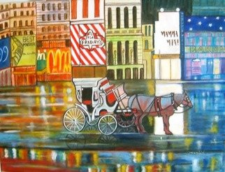 Manjiri Kanvinde; Evening In New York, 2012, Original Painting Acrylic, 24 x 18 inches. Artwork description: 241    Medium: Acrylic on gallery wrapped canvasSize: 24