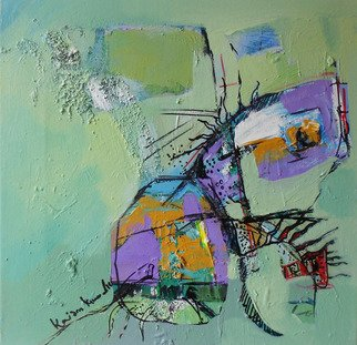 Kaiser Kamal; Spring1, 2012, Original Mixed Media, 12 x 12 inches. Artwork description: 241              mixed media , contemporary, experimental on display @ think Coffee Gallary248 Marcer st . Ny              ...