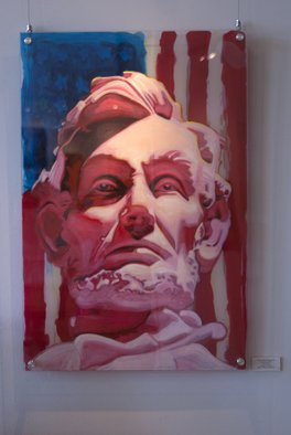 Michael Todd Longhofer; Ambassador Of Freedom, 2014, Original Painting Acrylic, 36 x 24 inches. Artwork description: 241  Lincoln, America, Patriotic ...
