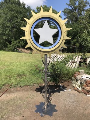 Mary Angers; Sun Star, 2019, Original Sculpture Steel, 48 x 89 inches. Artwork description: 241 Sun Star is about the universal cycles of life like the sun rising and setting and the stars it interacts with. ...