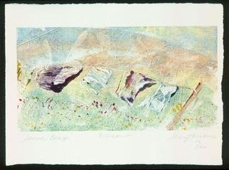 Sherry Harradence; SPRING BREEZE, 2012, Original Printmaking Monoprint, 14 x 11 inches. Artwork description: 241 Original Monoprint framed. Painted with high quality Printmaking Inks and WN Printmaking Paper buff.  I was in Santa Fe for a work shop and was inspired and had to paint this scene.                                                                            ...