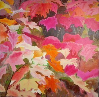 Guy Octaaf Moreaux, 'Fall Colors Blooming In L...', 2011, original Painting Oil, 100 x 100  x 4 inches. Artwork description: 1758  The explosion of colors in Limburg, eastern province of Belgium, where a sometimes sandy soil allows a wide variety of trees to grow. This province has many forests. ...