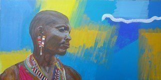 Guy Octaaf Moreaux; Diani Beachboy, 2019, Original Painting Acrylic, 60 x 30 cm. Artwork description: 241 Diani is a beachtown on the Kenyan coast.  Beachboys are men who roam the beach in order to sell goods.  Most of them in Kenya are Masai who sell masai artefacts.  Sometimes they are nice, other times they can be pushy and annoying with their insistence.  It ...