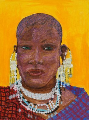 Guy Octaaf Moreaux; Masai Woman 1, 2018, Original Pastel Oil, 30 x 40 cm. Artwork description: 241 The Masai people have symbolized Kenya for a long time.  They hold on to their cultural traditions more probably than the other Kenian tribes. ...