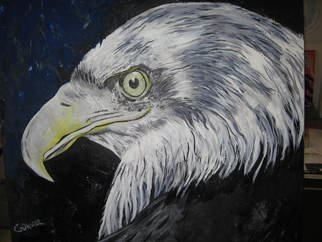 Gunhar Brom; Eagle Eye, 2009, Original Painting Acrylic, 100 x 100 cm. Artwork description: 241  The eye of the eagle is a painting in Acryl. ...