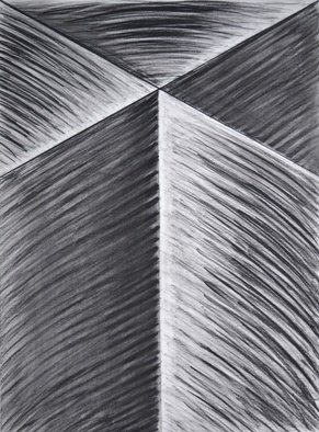 Mircea  Popescu; Vertical III, 2014, Original Drawing Charcoal, 22 x 30 inches. Artwork description: 241                    Abstract, Postmodern, Minimalism,            Postmodern, Minimalism, Mixed media               Wood and plaster                ...