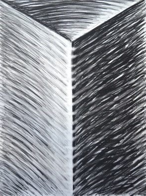 Mircea  Popescu; Vertical IV, 2014, Original Drawing Charcoal, 22 x 30 inches. Artwork description: 241                     Abstract, Postmodern, Minimalism,            Postmodern, Minimalism, Mixed media               Wood and plaster                 ...