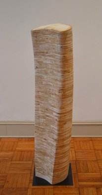 Mircea  Popescu; Wings II, 2014, Original Sculpture Mixed, 16 x 57 inches. Artwork description: 241                Abstract, Postmodern, Minimalism, Mixed media           Postmodern, Minimalism, Mixed media               Wood and plaster            ...