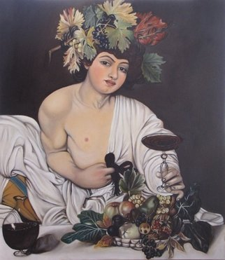 Rosa Protopapa; Bacco, 2013, Original Painting Oil, 80 x 70 inches.