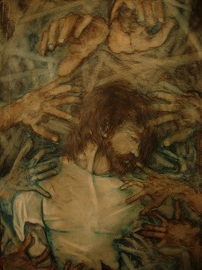 Manolo Roldan Humpierres; JESUS, 2008, Original Other, 0.5 x 1.5 m. Artwork description: 241  MUESTRA DE UN JESUS MODERNO, QUERIDO Y DESEADO ...