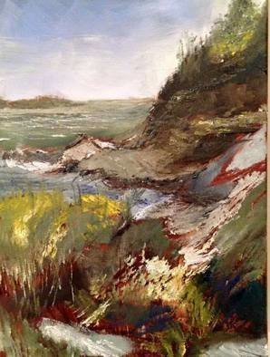 Michael Garr; Wetheril Cove 3, 2015, Original Painting Oil, 12 x 16 inches. Artwork description: 241 Textural.  Done with single large brush.  ...