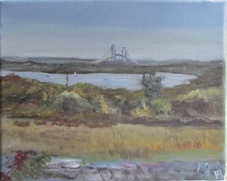 Michael Garr; West Passage From Casey Farm, 2014, Original Painting Oil, 10 x 8 inches. Artwork description: 241  A pleasant warm Sunday afternoon plein air painting, completed on the spot...