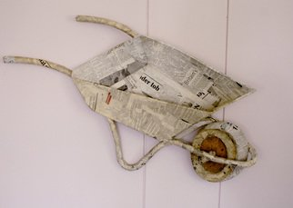 Munyaradzi Mazarire; Empty News, 2014, Original Mixed Media, 850 x 570 mm. Artwork description: 241    Fusion of 3d and 2d art   ...