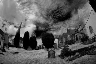 Maciej Wysocki; Church Complex, 2012, Original Photography Black and White, 42 x 30 cm. Artwork description: 241 Cathedral, church, church complex , Letterkenny, Co. Donegal, Ireland ...