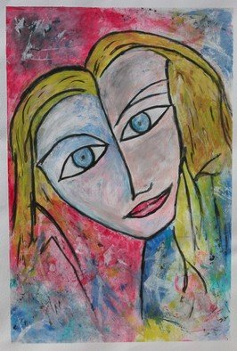 Michael Weatherly; Girl 1, 2010, Original Painting Acrylic, 24 x 36 inches.
