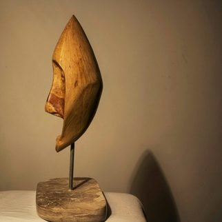 Nadine Amireh; Grief, 2015, Original Sculpture Mixed, 27 x 42 cm. Artwork description: 241 Cypress Wood on Jordanian Limestone...