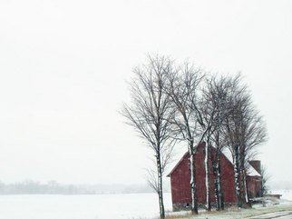 Nancy Bechtol, 'Snow Barn', 2008, original Photography Color, 17 x 11  x 1 inches. Artwork description: 5475 Framed at 16x20 archival matte.  beautiful snow day in Michigan route 66  ...