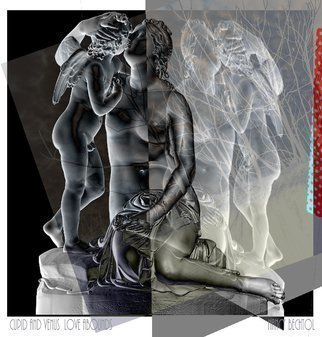 Nancy Bechtol, 'Venus And Cupid Historica...', 2016, original Photography Other, 11 x 17  x 1 inches. Artwork description: 2703  Photopainting, experimentalnote, sizes vary, printed on archival paper in this listing but available on archival papers, metal, canvas.  please inquire. ...