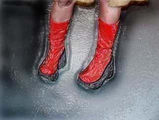 Nancy Bechtol, 'Red Boots', 2005, original Photography Other, 17 x 11  x 1 inches. Artwork description: 7455  red boots dance ...