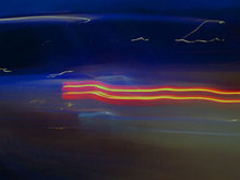 Artist: Nancy Bechtol's, title: xBlueRed Light Flow, 2008, Photography Color