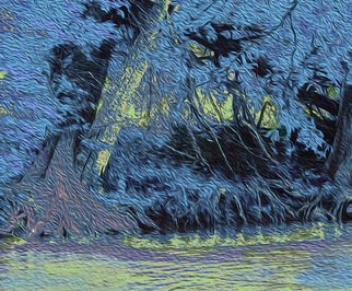 Nancy Wood; Guadalupe River Blue, 2013, Original Photography Other, 20 x 16 inches. Artwork description: 241    Digital Photo on Canvas   ...