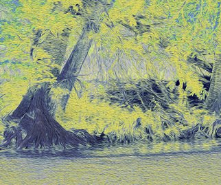 Nancy Wood; Guadalupe River Light, 2013, Original Photography Other, 20 x 16 inches. Artwork description: 241        Digital Photo on Canvas       ...