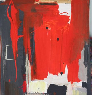 Fontanesi Francesco; Abstract In Red, 2013, Original Painting Acrylic, 47 x 68 cm.