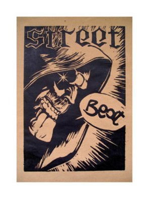 Stefano Gamba; Street Beat, 2008, Original Printmaking Intaglio - Open Edition, 30 x 40 cm. Artwork description: 241  xilography prints   ...