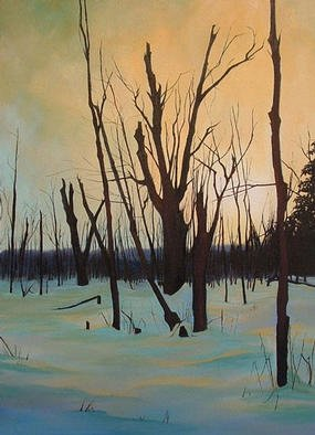 Natalie Elizabeth Leblanc; Beaver Pond, 2003, Original Painting Oil, 22 x 30 inches.